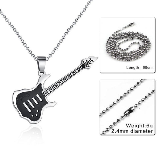 Guitar Necklace Pendant - 24Inch 002S