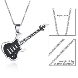 Guitar Necklace Pendant - 24Inch 074S