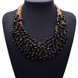 Crystal Statement Necklace - 18K Gold Plated