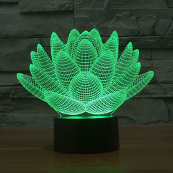 Colorful Lotus Flower 3D Led Night Light - Night Light