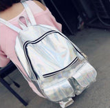 Trendy Holographic Backpack 7 Colors 2 Sizes - Handbag