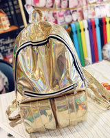 Trendy Holographic Backpack 7 Colors 2 Sizes - Big Gold - Handbag