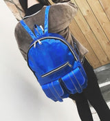 Trendy Holographic Backpack 7 Colors 2 Sizes - Big Blue - Handbag