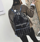 Trendy Holographic Backpack 7 Colors 2 Sizes - Big Black - Handbag