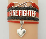 Infinity Love Fire Fighter Bracelet - Firefighter