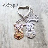 Cute American Staffordshire Terrier Keychain - 5 - Key Chain