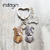 Cute American Staffordshire Terrier Keychain - 7 - Key Chain