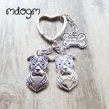 Cute American Staffordshire Terrier Keychain - 11 - Key Chain