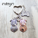 Cute American Staffordshire Terrier Keychain - 13 - Key Chain