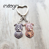 Cute American Staffordshire Terrier Keychain - 14 - Key Chain