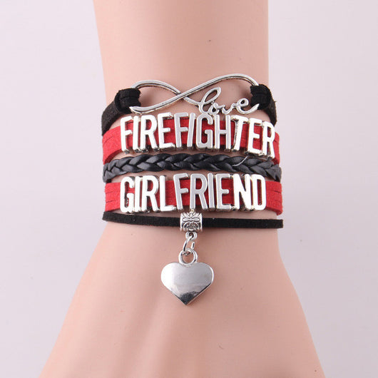 Infinity Love Firefighter Bracelet - Girlfriend