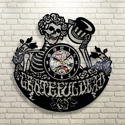 Star Elegant - Grateful Dead Art Vinyl Record Wall Clock