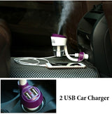 *in Car* Diffuser + 2 Usb Charging Ports - Oil Diffuser