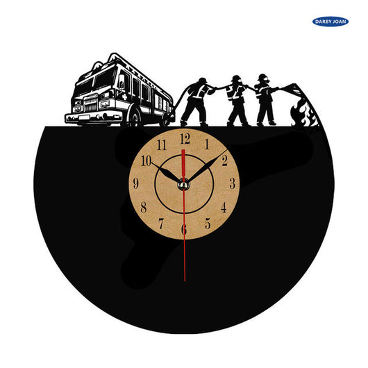 Super Cool Firefighter Vinyl Wall Clock - 1