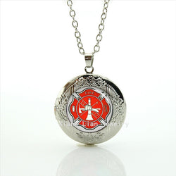 2017 Firefighter Locket Necklace