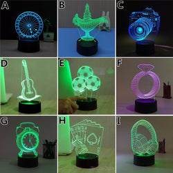 Optical Illusion 3D Led Night Lights - Led