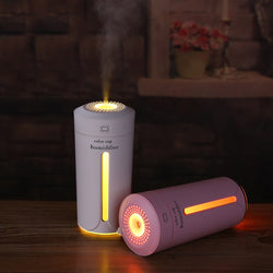 Portable Mini Air Humidifier Night Light - Essential Oil Diffuser