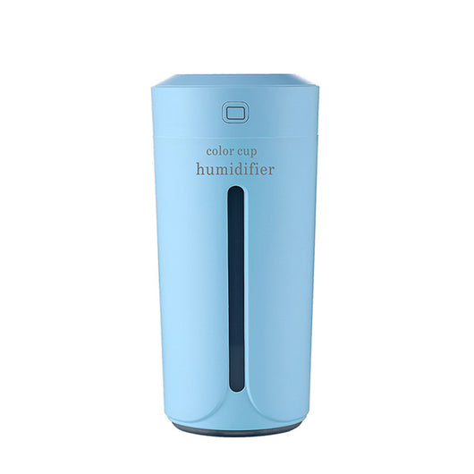 Portable Mini Air Humidifier Night Light - Sky Blue - Essential Oil Diffuser