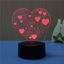 3D Illusion Lamp Led Night Light - Night Light