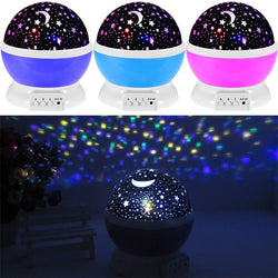 Romantic New Rotating Star Moon Sky Lamp - Projector Light