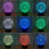 Football Soccer Night Light Holographic 3D Led Lighting - Night Light