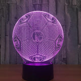 Football Soccer Night Light Holographic 3D Led Lighting - 8 - Night Light