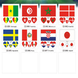10PCS National Flag Rub-on Stickers - Star-Elegant.com