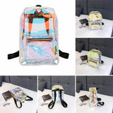 Girls Clear Backpacks Transparent School Bag - Star-Elegant.com