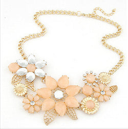 Star Flower Charm Statement Necklaces - Necklace