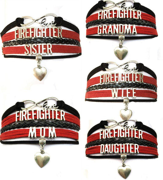 Firefighter Infinity Love Bracelet