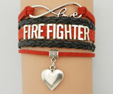 Infinity Love Fire Fighter Bracelet