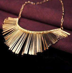 Gold Tassel Necklace Vintage Styled