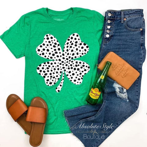 Shamrock Dalmatian Spotted Graphic Tee