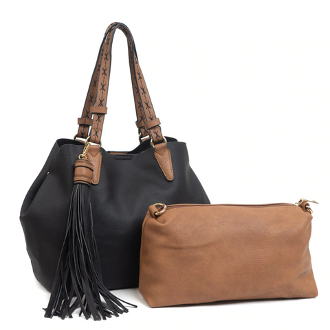 2-in-1 Tassel Handbag