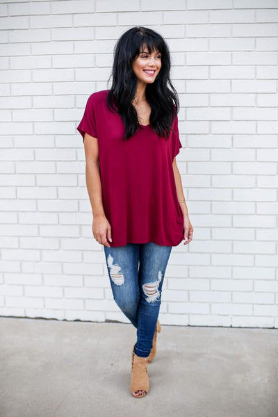 Beaux Boyfriend V-Neck Top