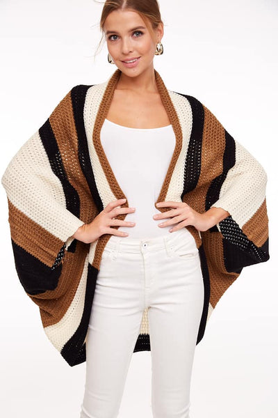 Colorblock Cocoon Knit Cardigan
