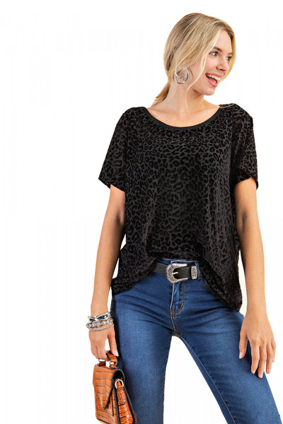 Velvet Leopard Burnout Top