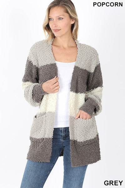 Colorblock Popcorn Cardigan