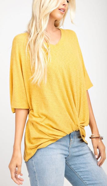 Twisted Mustard Top