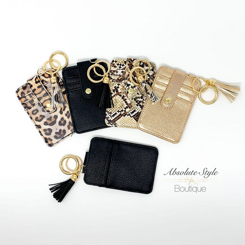 Card Holder Keychain Mini Clutch Wallet