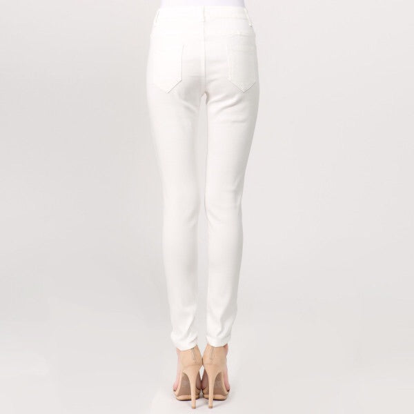 White Distressed Jeggings