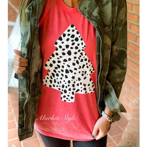 Dalmatian Spotted Tree Graphic Tee