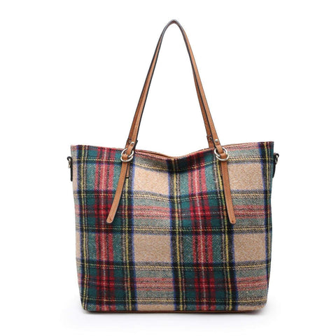 Plaid Tote Handbags