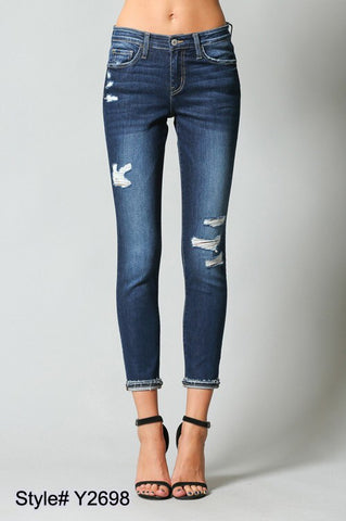 Flying Monkey Distressed Crop Denim
