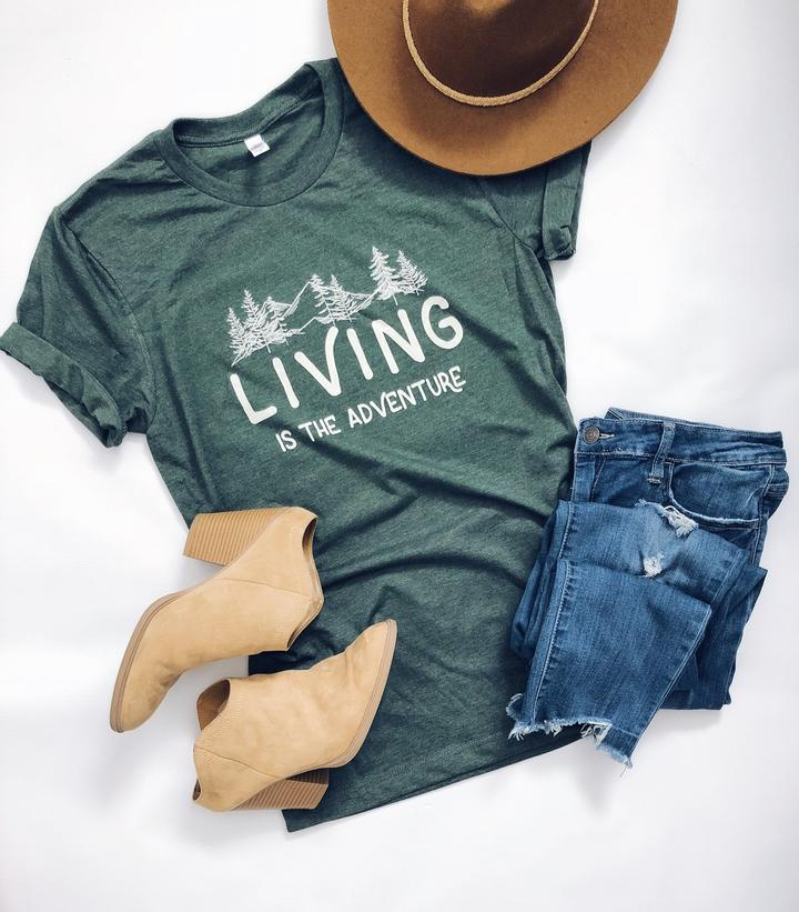 Living is the Adventure Graphic Tee