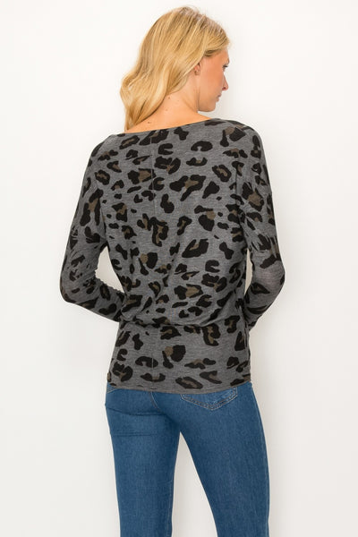 Leopard Dolman Long Sleeve
