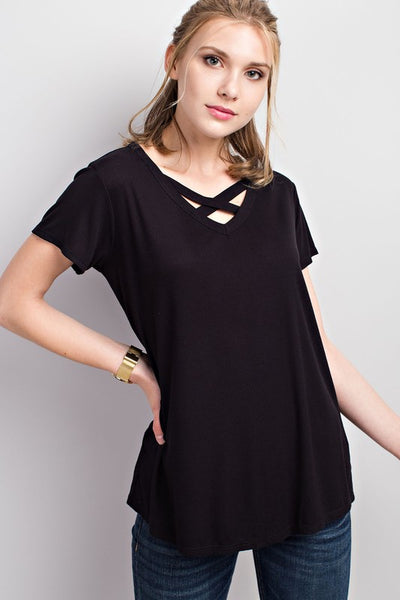 Criss Cross Short Sleeve Top
