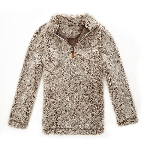 Sherpa Quarter Zip Pullover - ONLY $49!