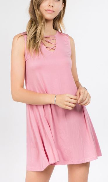 Sleeveless Tunic Top Dress