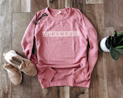 WEEKENDS Fench Terry Raglan Sweatshirt